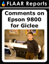 comments on epson 9800 for giclee