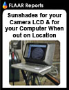 Sunshades for your camera LCD