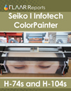 Seiko I Infotech ColorPainter H-74s H-104s mild solvent inkjet printer evaluations tests reviews