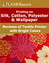 printing on silk, cotton, polyester & wallpaper reviews of textile printer with bright colors