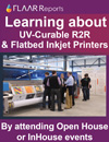 learning about uv curable R2R & flatbed inkjet printers by attending open house in house events