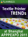 Textile Printer TRENDs exhibited at APPPEXPO 2011