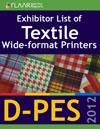 D-PES 2012 wide format textile printers list