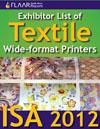 ISA 2012 textile wide format printers list