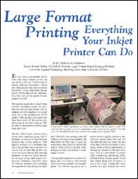 large format printing, everything your inkjet printer can do