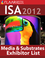 ISA 2012 distributor manufature media material substrate exhibitor list 2013