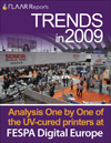 FESPA 09 UV TRENDS Part I wide format UV printers flatbed roll fed signs