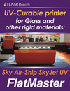uv curable printer for glass and other rigid materials sky air ship sky jet uv flatmaster