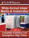 Wide format inkjet media substrates film vinyl PVC canvas Guangzhou Sign China Expo exhibitor list 2011 2012 FULL exhibitors