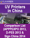 UV List comparison China printers