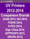 UV List all brands tradeshows Drupa 2012 vs FESPA 2014 vs APPPEXPO 2014 FLAAR Reports