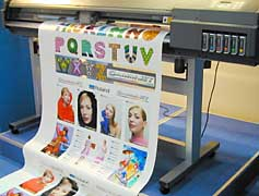 Good choice for vinyl cutters, wide format color inkjet